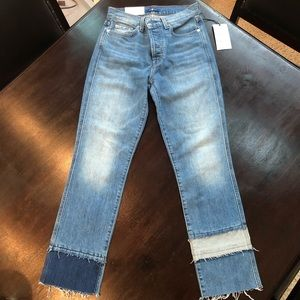 Seven for all mankind Edie high waisted 26 crop